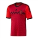 Adidas Mexico Away '13-'14 Replica Soccer Jersey (Red/Black)