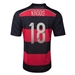 Adidas Germany 'KROOS 18' Away 2014 Replica Soccer Jersey (Black/Victory Red/Metallic Silver)