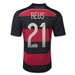 Adidas Germany 'REUS 21' Away 2014 Replica Soccer Jersey (Black/Victory Red/Metallic Silver)
