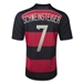 Adidas Germany 'SCHWEINSTEIGER 7' Away 2014 Replica Soccer Jersey (Black/Victory Red/Metallic Silver)