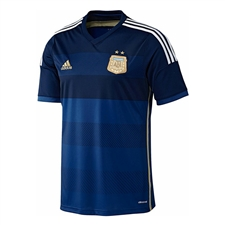 Adidas Argentina Away 2014 Replica Soccer Jersey (Pride Ink/Collegiate Navy/Light Football Gold/White)