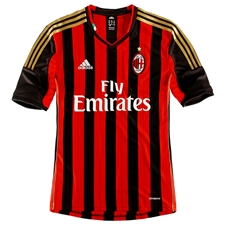 Adidas AC Milan Home 2013-2014 Replica Soccer Jersey (Red/Black)