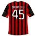 Adidas AC Milan 'BALOTELLI 45' Home '13-'14 Replica Soccer Jersey (Red/Black/White)