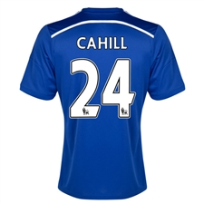 Adidas Chelsea 'CAHILL 24' Home '14-'15 Replica Soccer Jersey (Chelsea Blue/Core Blue/White)