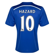 Adidas Chelsea 'HAZARD 10' Home '14-'15 Replica Soccer Jersey (Chelsea Blue/Core Blue/White)