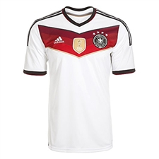 Adidas Germany 4 Stars Home 2014 Replica Soccer Jersey (White/Black/Victory Red/Metallic Silver)