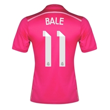 Adidas Real Madrid 'BALE 11' Away '14-'15 Replica Soccer Jersey (Blast Pink/White)