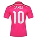Adidas Real Madrid 'JAMES 10' Away '14-'15 Replica Soccer Jersey (Blast Pink/White)