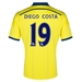 Adidas Chelsea 'DIEGO COSTA 19' Away '14-'15 Replica Soccer Jersey (Yellow/Chelsea Blue)