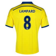 Adidas Chelsea 'LAMPARD 8' Away '14-'15 Replica Soccer Jersey (Yellow/Chelsea Blue)