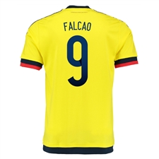 Adidas Colombia 'FALCAO 9' Home 2015 Soccer Jersey (Yellow/Collegiate Navy)