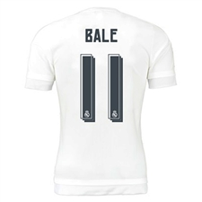 Adidas Real Madrid 'BALE 11' Home '15-'16 Replica Soccer Jersey (White/Clear Grey)