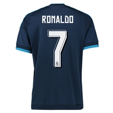 Adidas Real Madrid 'RONALDO 7' Third '15-'16 Replica Soccer Jersey (Night Indigo/Bright Blue/White)