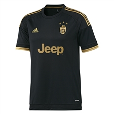 Adidas Juventus '15-'16 Third Soccer Jersey (Black/Dark Football Gold)