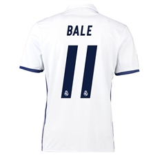 Adidas Real Madrid 'BALE 11' Home '16-'17 Soccer Jersey (White/Blue)