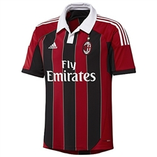 Adidas AC Milan Home 2012-2013 Replica Soccer Jersey (Red/Black/White)