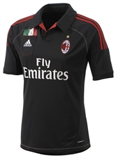 Adidas AC Milan 2012-2013 Replica Third Jersey (Black/Red)