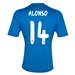 Adidas Real Madrid 'ALONSO 14' Away '13-'14 Replica Soccer Jersey (Air Force Blue/White/Light Orange)