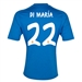 Adidas Real Madrid 'DI MARIA 22' Away '13-'14 Replica Soccer Jersey (Air Force Blue/White/Light Orange)
