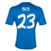 Adidas Real Madrid 'ISCO 23' Away '13-'14 Replica Soccer Jersey (Air Force Blue/White/Light Orange)