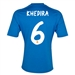 Adidas Real Madrid 'KHEDIRA 6' Away '13-'14 Replica Soccer Jersey (Air Force Blue/White/Light Orange)