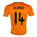 Adidas Real Madrid 'ALONSO 14' Third '13-'14 Replica Soccer Jersey (Light Orange/Dark Shale)