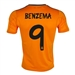 Adidas Real Madrid 'BENZEMA 9' Third '13-'14 Replica Soccer Jersey (Light Orange/Dark Shale)
