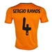 Adidas Real Madrid 'SERGIO RAMOS 4' Third '13-'14 Replica Soccer Jersey (Light Orange/Dark Shale)