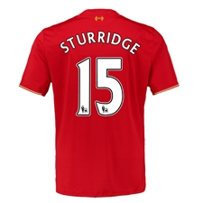 New Balance Liverpool 'STURRIDGE 15' Home '15-'16 Replica Soccer Jersey (Red)