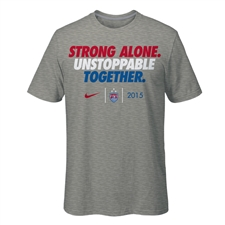 Nike USA USWNT World Cup Slogan Men's T-shirt (Grey)