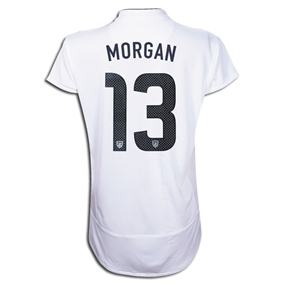 Nike Women's USA 'MORGAN 13' Home 2011 Replica Soccer Jersey (White/Navy)