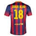 Nike FC Barcelona 'JORDI ALBA 18' '13-'14 Home Soccer Jersey (Midnight Navy/Storm Red/Tour Yellow)