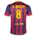 Nike FC Barcelona 'INIESTA 8' '13-'14 Home Soccer Jersey (Midnight Navy/Storm Red/Tour Yellow)