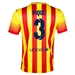 Nike FC Barcelona 'PIQUE 3' '13-'14 Away Soccer Jersey (University Red/Vibrant Yellow)