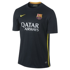 Nike FC Barcelona '13-'14 Third Soccer Jersey (Black/Vibrant Yellow/University Red/Vibrant Yellow)