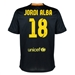 Nike FC Barcelona 'JORDI ALBA 18' '13-'14 Third Soccer Jersey (Black/Vibrant Yellow/University Red/Vibrant Yellow)