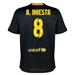 Nike FC Barcelona 'A. INIESTA 8' '13-'14 Third Soccer Jersey (Black/Vibrant Yellow/University Red/Vibrant Yellow)
