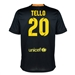 Nike FC Barcelona 'TELLO 20' '13-'14 Third Soccer Jersey (Black/Vibrant Yellow/University Red/Vibrant Yellow)