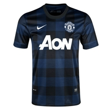Nike Manchester United Away '13-'14 Replica Soccer Jersey (Midnight Navy/Black/Football White)