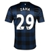 Nike Manchester United 'ZAHA 29' Away 2013-2014 Replica Soccer Jersey (Midnight Navy/Black/Football White)
