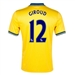 Nike Arsenal 'GIROUD 12' Away 2013-2014 Replica Soccer Jersey (Midwest Gold)