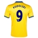 Nike Arsenal 'PODOLSKI 9' Away 2013-2014 Replica Soccer Jersey (Midwest Gold)