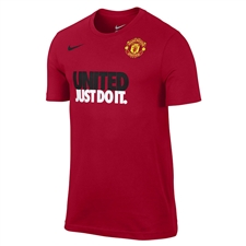 Nike Manchester United Just Do It Core Read T-Shirt (Diablo Red)