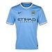 Nike Manchester City Home '13-'14 Replica Soccer Jersey (Field Blue)