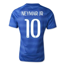 Nike Brasil 2014 'NEYMAR 10' Away Replica Soccer Jersey (Varsity Royal/Football White)