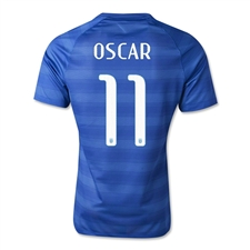 Nike Brasil 2014 'OSCAR 11' Away Replica Soccer Jersey (Varsity Royal/Football White)