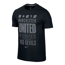 Nike Manchester United Core Plus Tee Shirt (Midnight Navy/Dark Grey Heather)