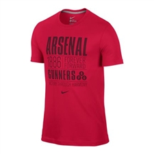 Nike Arsenal FC Core Plus Tee Shirt (Artillery Red/Dark Grey Heather)