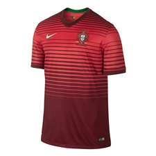 Nike Portugal Home 2014 Replica Soccer Jersey (Team Red/Action Red/Football White)