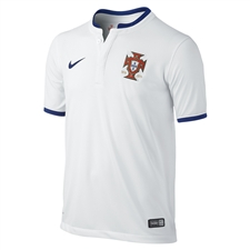 Nike Portugal Away 2014 Replica Soccer Jersey (Football White/Deep Royal Blue)